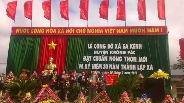 Lễ công bố xã Ea Kênh đạt chuẩn nông thôn mới và Kỷ niệm 30 năm thành lập xã