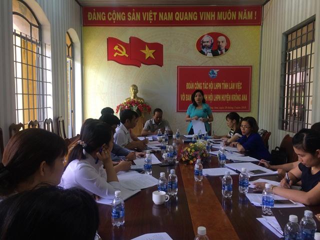 Hội Liên hiệp Phụ nữ tỉnh Đắk Lắk làm việc với Ban Chấp hành Hội LHPN huyện Krông Ana