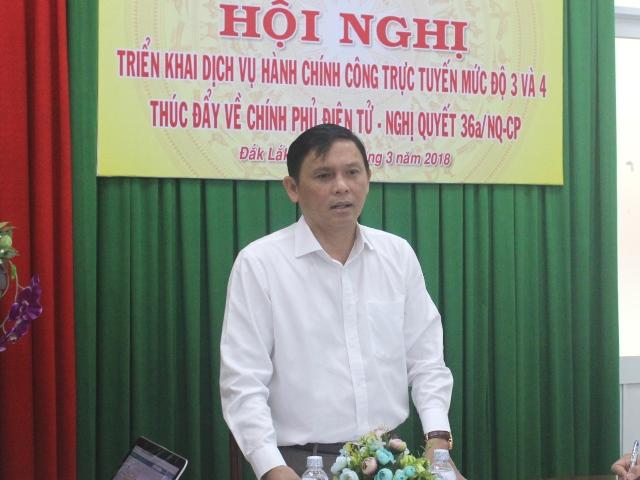 Kết luận của Phó Chủ tịch UBND tỉnh Nguyễn Tuấn Hà tại Hội nghị triển khai dịch vụ hành chính công trực tuyến