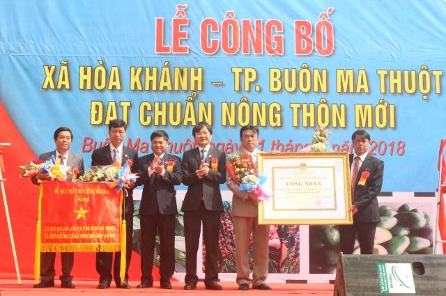 Lễ công bố xã Hòa Khánh đạt chuẩn Nông thôn mới
