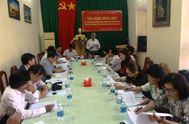 Tọa đàm khoa học về tác động của chính sách đối với ngôn ngữ dân tộc thiểu số tại tỉnh Đắk Lắk