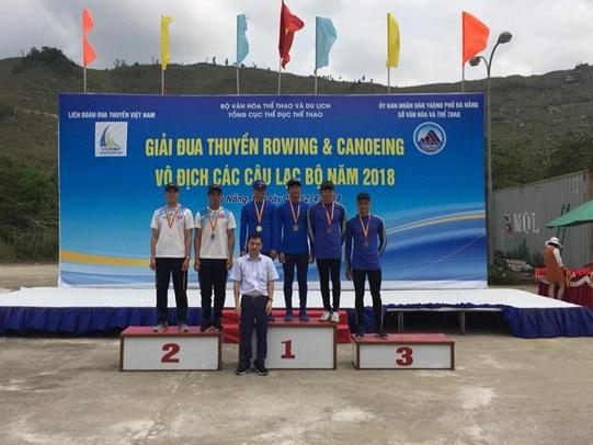 Đắk Lắk đoạt 2 huy chương bạc tại giải Đua thuyền Rowing và Canoeing Quốc gia năm 2018