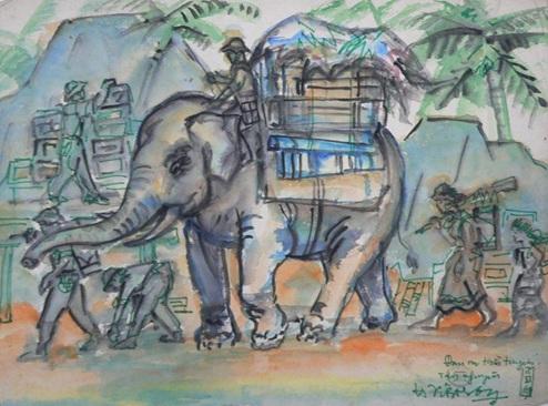 """Bảo tàng tỉnh Đắk Lắk triển lãm bản sao bộ tranh """"Ký họa kháng chiến"""""""