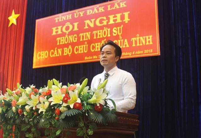 Hội nghị thông tin tình hình thời sự cho cán bộ chủ chốt của tỉnh