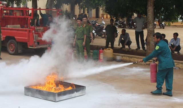 Phát huy phong trào toàn dân phòng cháy và chữa cháy
