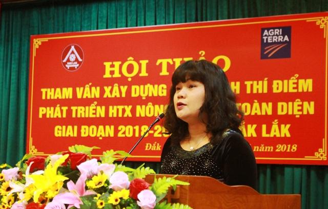 Hội thảo tham vấn xây dựng kế hoạch thí điểm phát triển HTX nông nghiệp toàn diện tỉnh Đắk Lắk giai đoạn 2018 - 2020