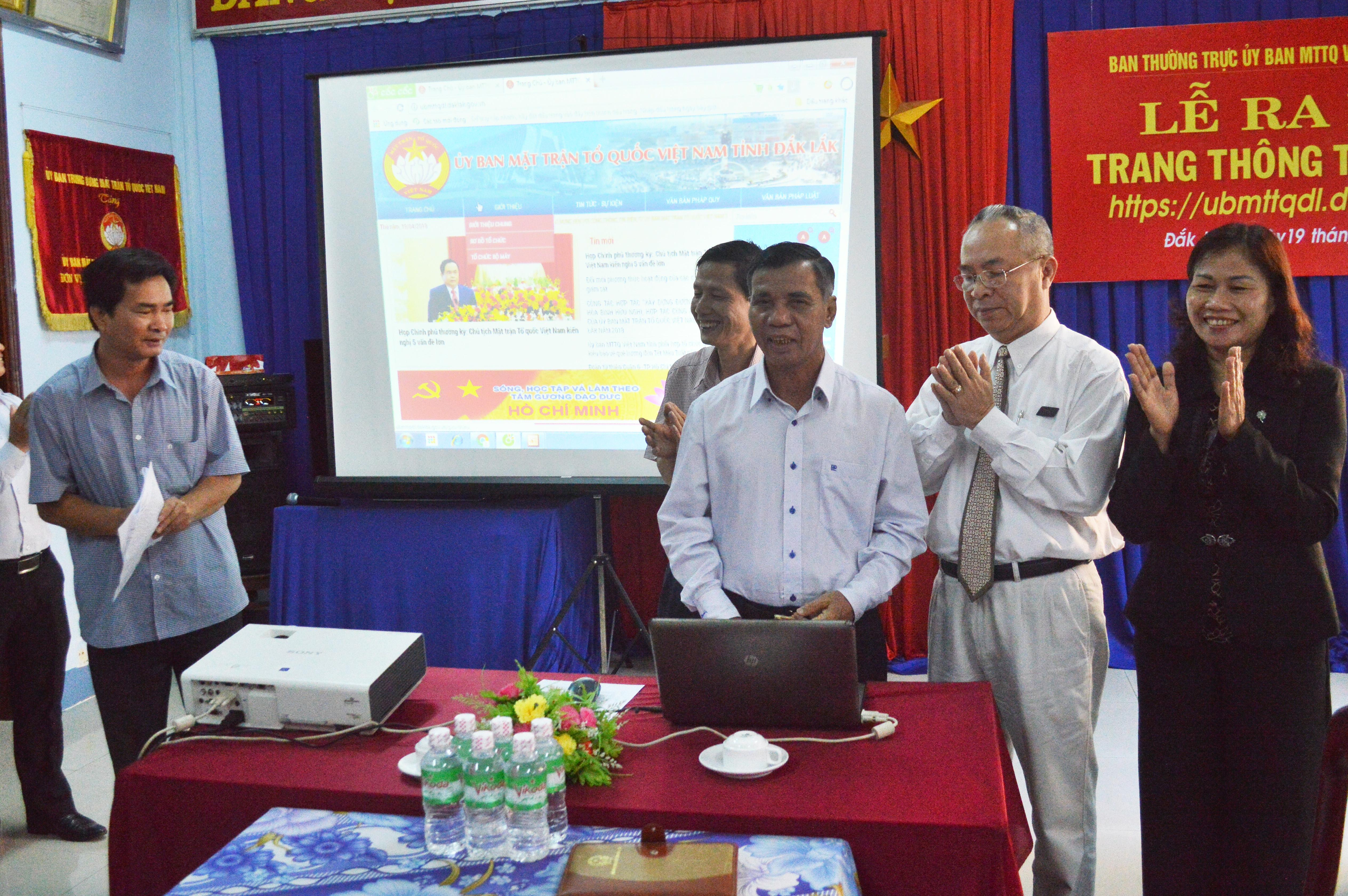 Ra mắt Trang thông tin điện tử UBMTTQ Việt Nam tỉnh Đắk Lắk