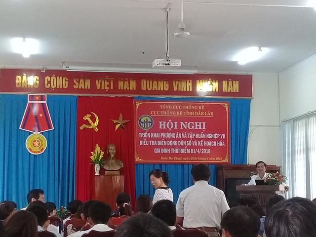 Cục Thống kê tỉnh Đắk Lắk tổ chức Hội nghị tập huấn nghiệp vụ Điều tra biến động dân số và Kế hoạch hóa gia đình thời điểm 01/04/2018.