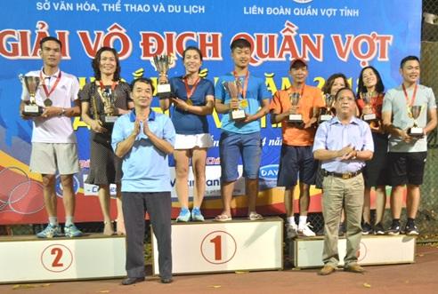 Bế mạc Giải vô địch Quần vợt tỉnh Đắk Lắk năm 2018