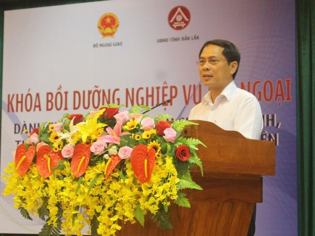 Bồi dưỡng nghiệp vụ đối ngoại dành cho công chức, viên chức các tỉnh, thành phố khu vực miền Trung, Tây Nguyên