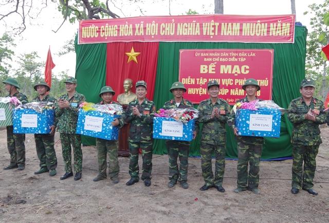Huyện Ea Súp, tỉnh Đắk Lắk tổ chức Diễn tập khu vực phòng thủ