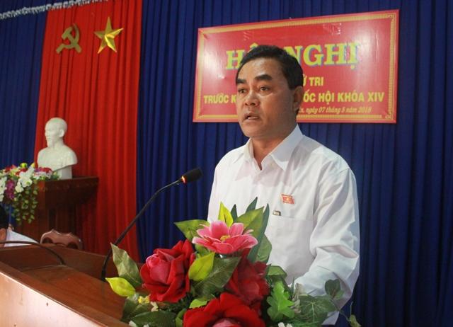 Đoàn Đại biểu Quốc hội tỉnh tiếp xúc cử tri tại huyện Krông Năng