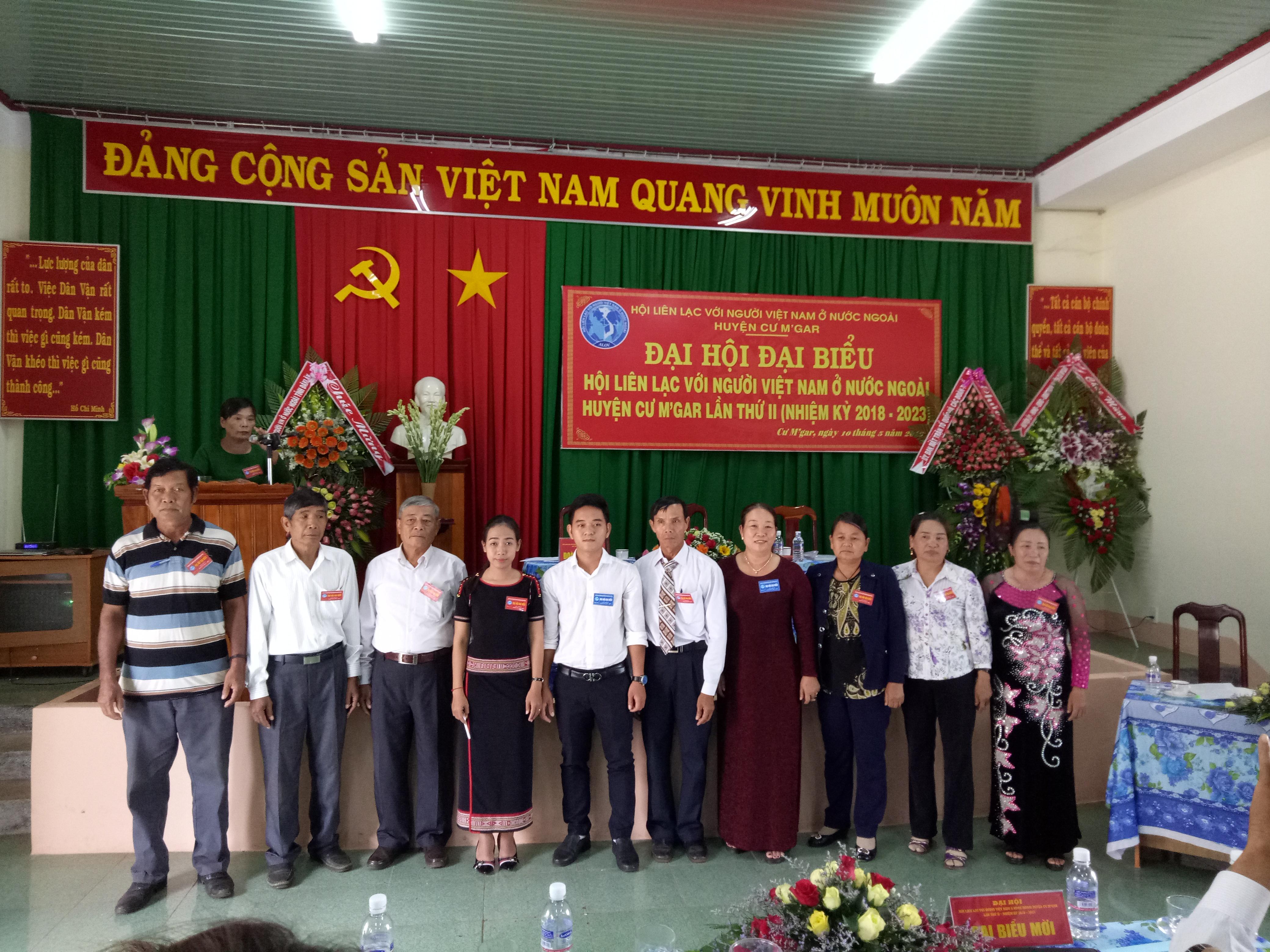 Đại hội đại biểu Hội Liên lạc với người Việt Nam ở nước ngoài huyện Cư M'gar lần thứ II (nhiệm kỳ 2018-2023)