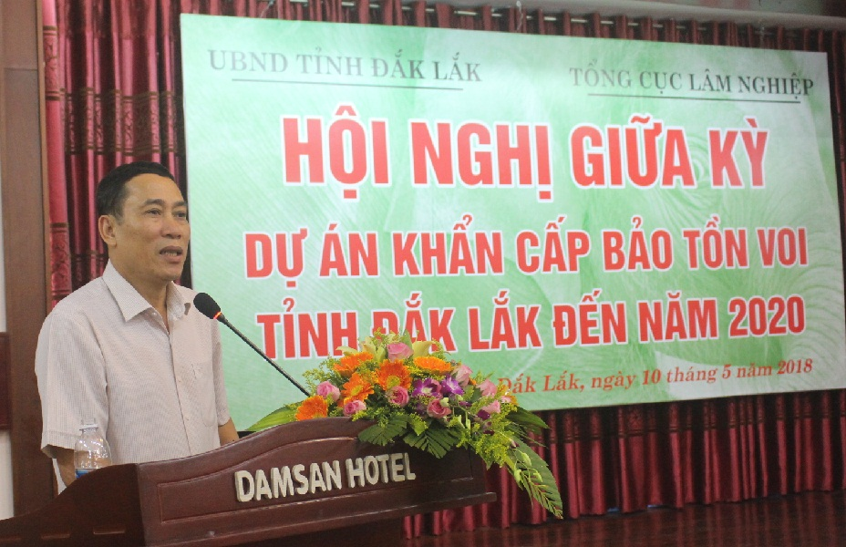 Hội nghị giữa kỳ Dự án khẩn cấp Bảo tồn voi tỉnh Đắk Lắk đến năm 2020