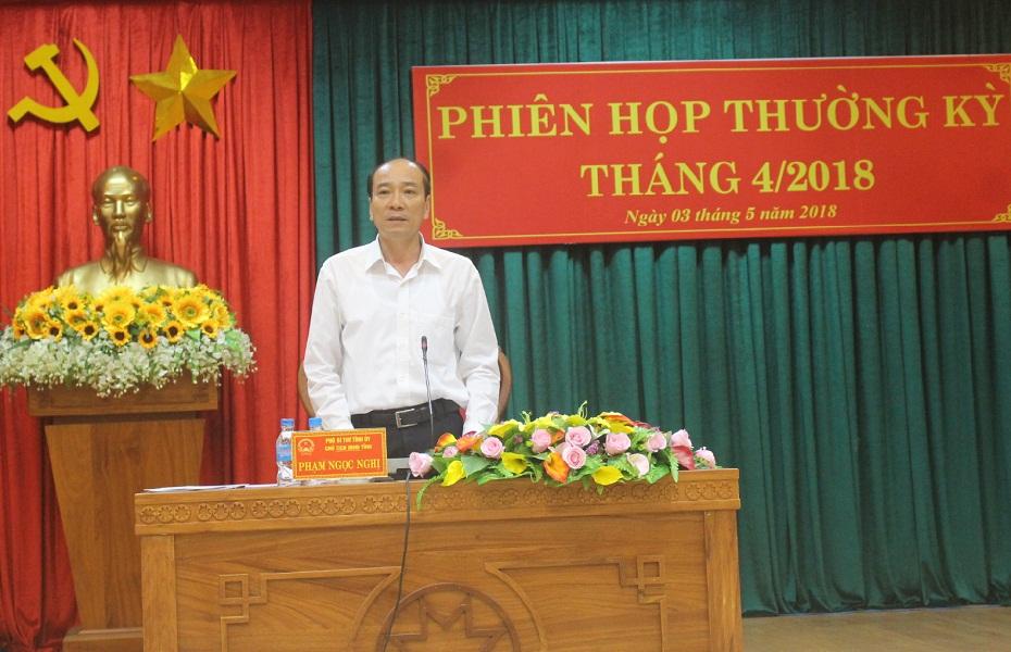 Kết luận của Chủ tịch UBND tỉnh tại Phiên họp UBND tỉnh thường kỳ tháng 4/2018