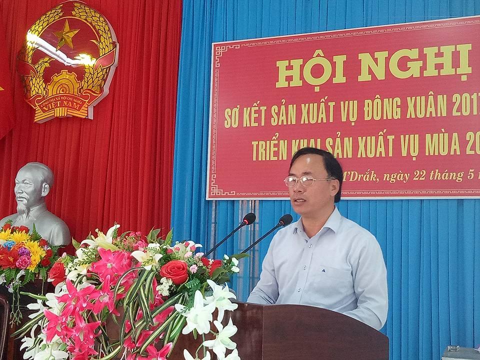 Huyện M'Đrắk: Tổ chức Hội nghị sơ kết vụ Đông Xuân 2017-2018, triển khai sản xuất vụ Mùa 2018