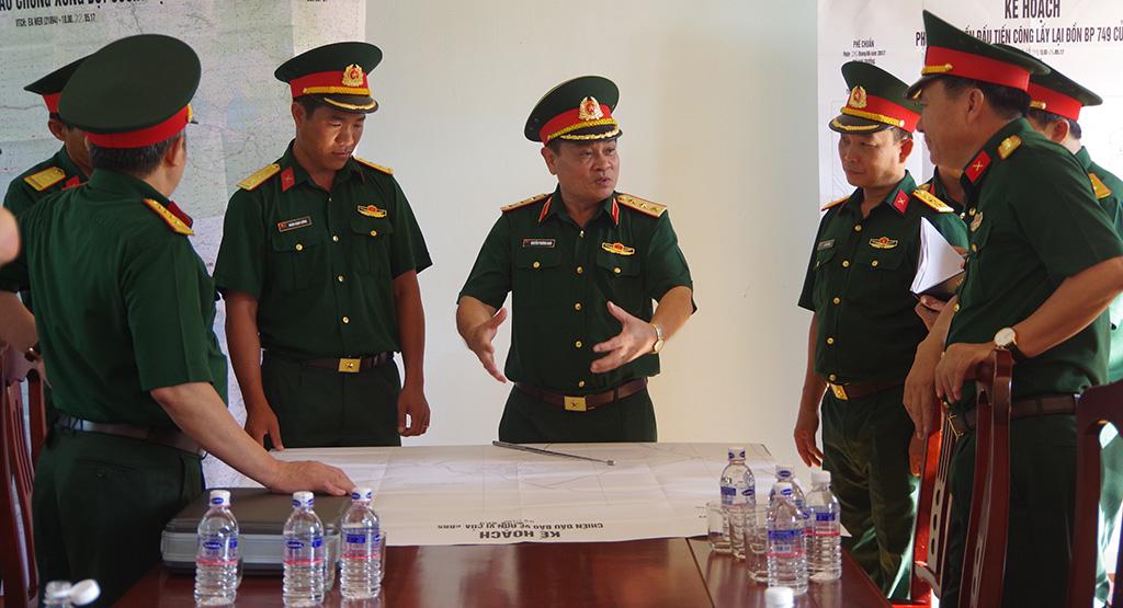 Bộ Tổng Tham mưu, Bộ Quốc phòng kiểm tra công tác SSCĐ trên tuyến biên giới Đắk Lắk