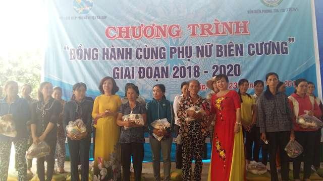 """""""Đồng hành cùng phụ nữ biên cương"""" giai đoạn 2018-2020 tại xã Ia Rvê, huyện Ea Súp"""