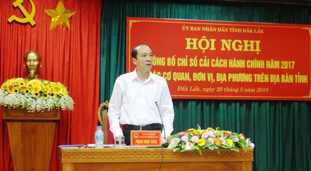 Hội nghị công bố chỉ số cải cách hành chính năm 2017