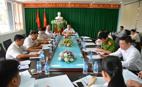 Thường trực Thành ủy Buôn Ma Thuột, giao ban khối Nội chính tháng 5 và triển khai một số nhiệm vụ trọng tâm tháng 6 năm 2018.