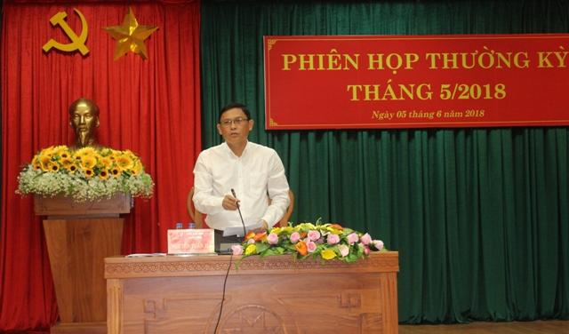 UBND tỉnh Đắk Lắk họp thường kỳ tháng 5/2018