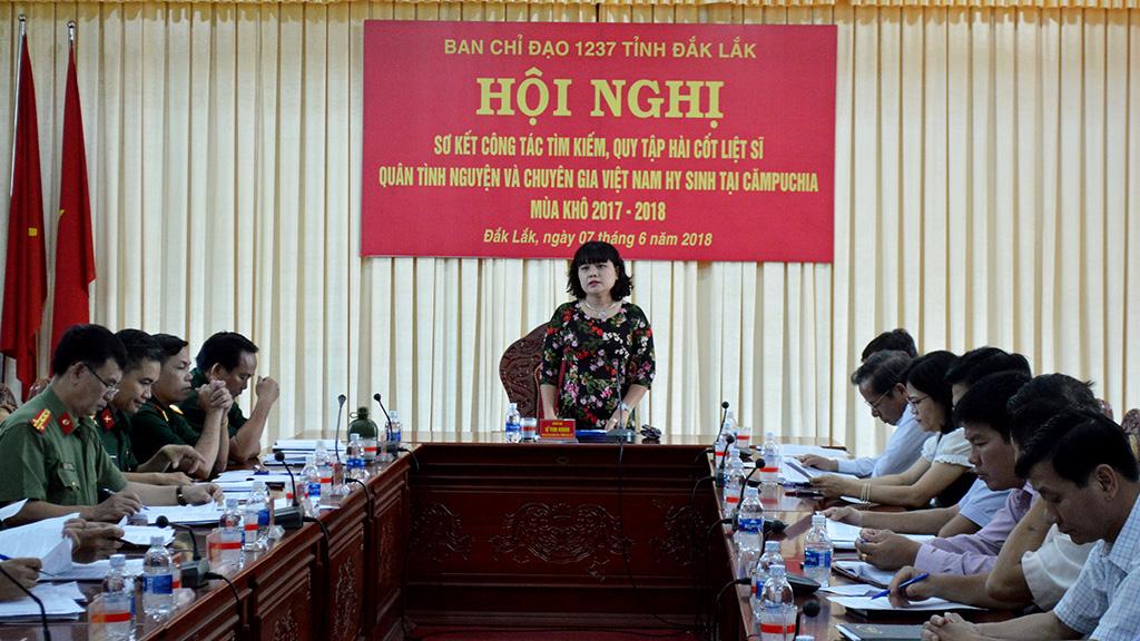 Sơ kết công tác tìm kiếm quy tập hài cốt liệt sĩ quân tình nguyện và chuyên gia Việt Nam hy sinh tại Campuchia