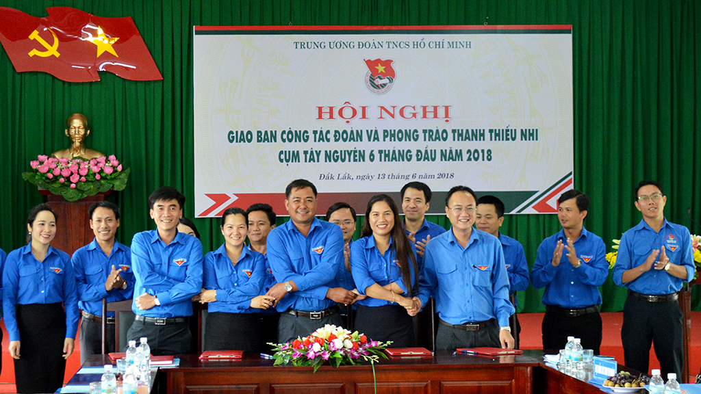 Giao ban công tác đoàn và phong trào thanh niên các tỉnh Tây Nguyên 6 tháng đầu năm 2018
