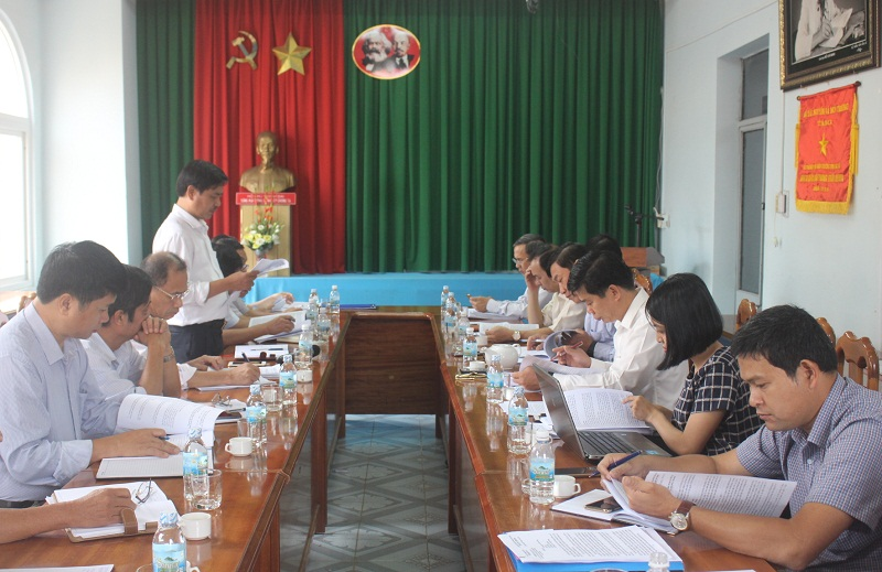 Tổ công tác của UBND tỉnh làm việc với Sở Tài nguyên và Môi trường
