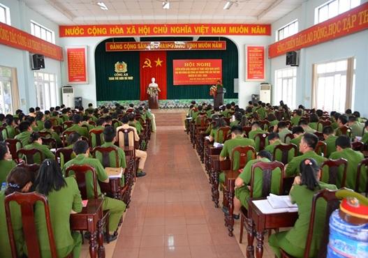 Đảng ủy Công an thành phố Buôn Ma Thuột kiểm điểm giữa nhiệm kỳ 2015 – 2020