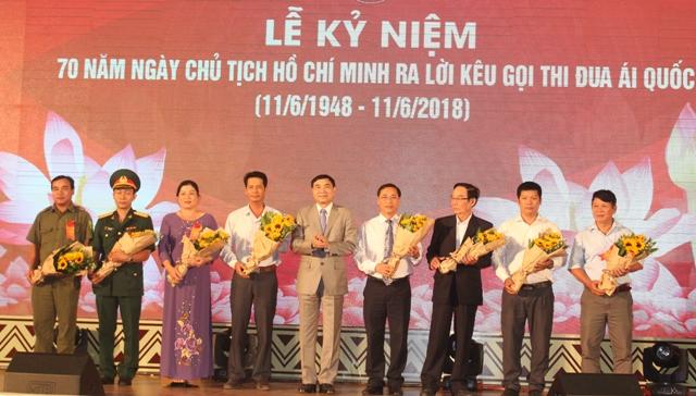 Lễ kỷ niệm 70 năm ngày Chủ tịch Hồ Chí Minh ra lời kêu gọi thi đua ái quốc.