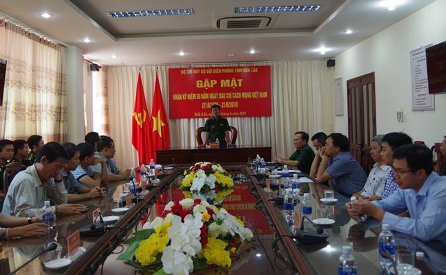 Bộ Chỉ huy Bộ đội Biên phòng Đắk Lắk gặp mặt các cơ quan Báo chí