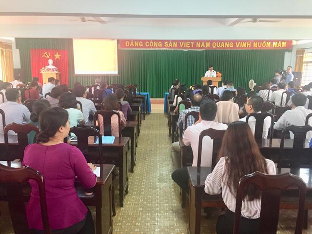 Khai giảng Lớp Bồi dưỡng kiến thức QL nhà nước ngạch Chuyên viên chính – năm 2018