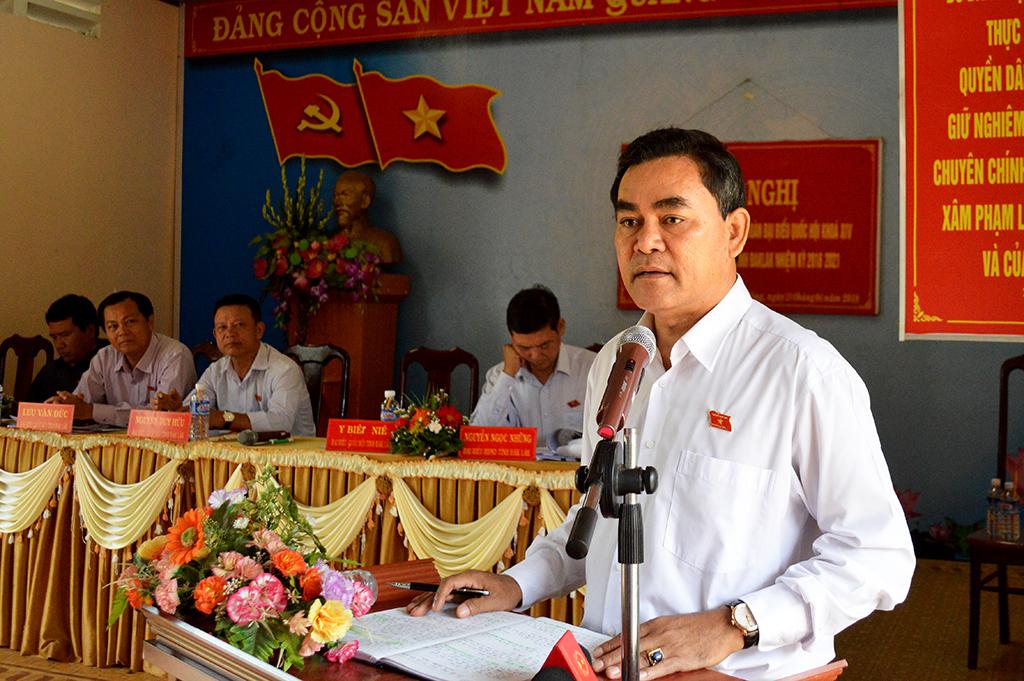 Đoàn Đại biểu Quốc hội tỉnh tiếp xúc cử tri tại huyện Krông Ana