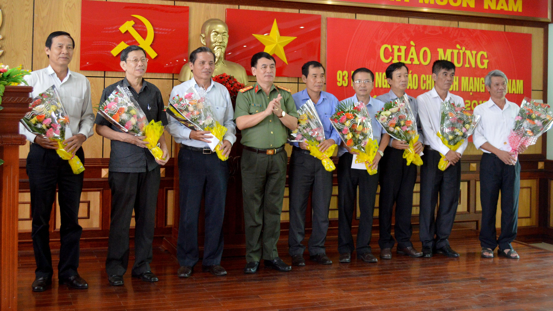 Công an tỉnh gặp mặt các cơ quan báo chí nhân kỷ niệm 93 năm Ngày Báo chí cách mạng Việt Nam