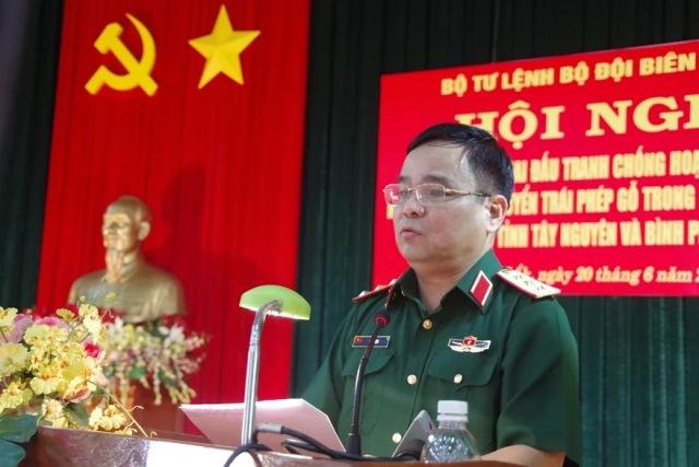 Hội nghị đấu tranh chống khai thác, vận chuyển gỗ trái phép trong khu vực biên giới các tỉnh Tây Nguyên, Bình Phước.