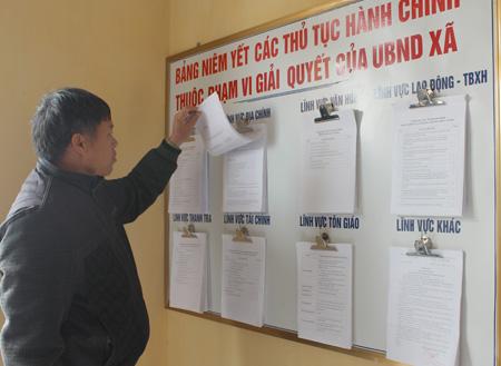 Công khai Bảng hướng dẫn tiếp nhận phản ánh, kiến nghị của người dân về quy định hành chính