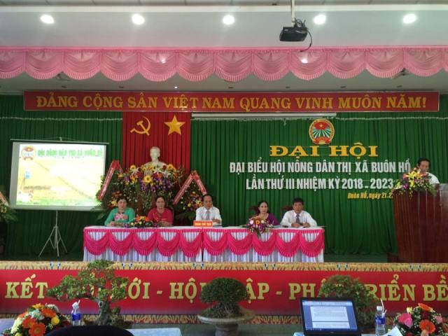 Đại hội Hội Nông dân thị xã Buôn Hồ khóa III, nhiệm kỳ 2018 – 2023