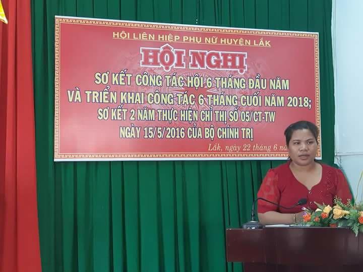 Hội LHPN huyện Lắk sơ kết công tác Hội và phong trào phụ nữ 6 tháng đầu năm, triển khai nhiệm vụ 6 tháng cuối năm 2018