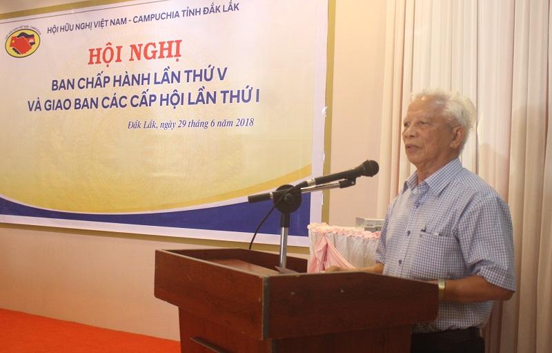 Hội nghị Ban Chấp hành lần thứ V,  khóa III Hội Hữu nghị Việt Nam – Campuchia tỉnh Đắk Lắk