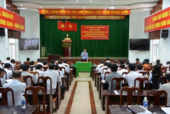 UBND thành phố Buôn Ma Thuột tổ chức Hội nghị đánh giá tình hình thực hiện công tác 6 tháng đầu năm và triển khai nhiệm vụ trọng tâm 6 tháng cuối năm 2018