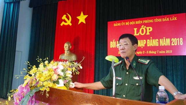 Đảng ủy Bộ đội Biên phòng tỉnh Đắk Lắk tổ chức Lớp bồi dưỡng kết nạp Đảng