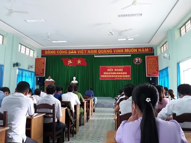 Huyện Krông Bông tổ chức Hội nghị triển khai Luật Tín ngưỡng, tôn giáo của Quốc hội và Nghị Định số 162/2017/NĐ-CP, ngày 30/12/2017 của chính phủ.