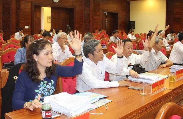 Phiên làm việc sáng 5/7: Bỏ phiếu bổ sung  thành viên UBND tỉnh và thảo luận tập trung tại hội trường.