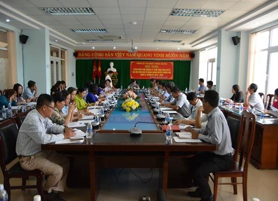 Đảng ủy Cơ quan Chính quyền thành phố Hội nghị kiểm điểm giữa nhiệm kỳ thực hiện Nghị quyết Đại hội Đảng bộ khóa II (nhiệm kỳ 2015 – 2020)