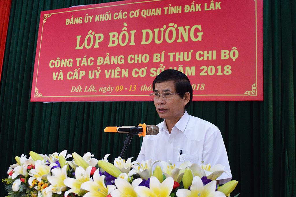 Đảng ủy khối các cơ quan tỉnh khai mạc lớp bồi dưỡng công tác Đảng