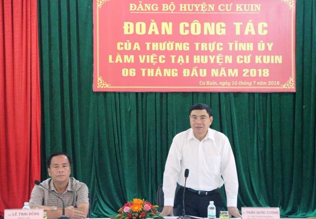 Đoàn công tác của Thường trực Tỉnh ủy làm việc với Huyện ủy Cư Kuin