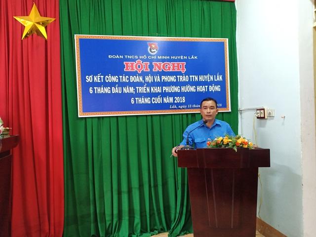 Huyện Lắk sơ kết công tác Đoàn, Hội và phong trào thanh thiếu nhi 6 tháng đầu năm 2018