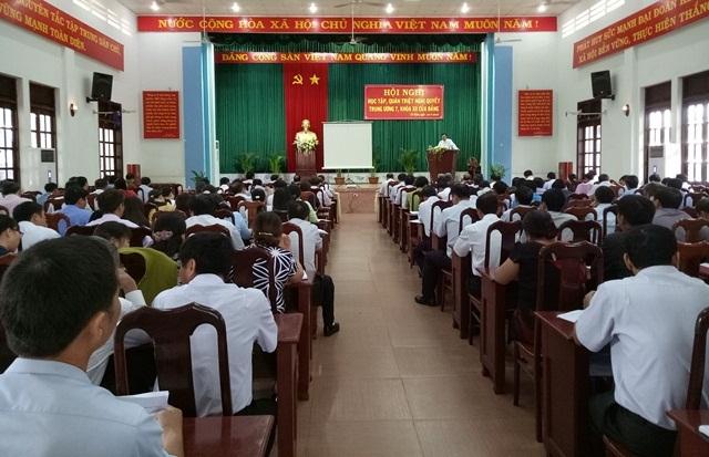 Huyện Cư M'gar tổ chức Hội nghị học tập, quán triệt Nghị quyết TW 7 khóa XII của Đảng