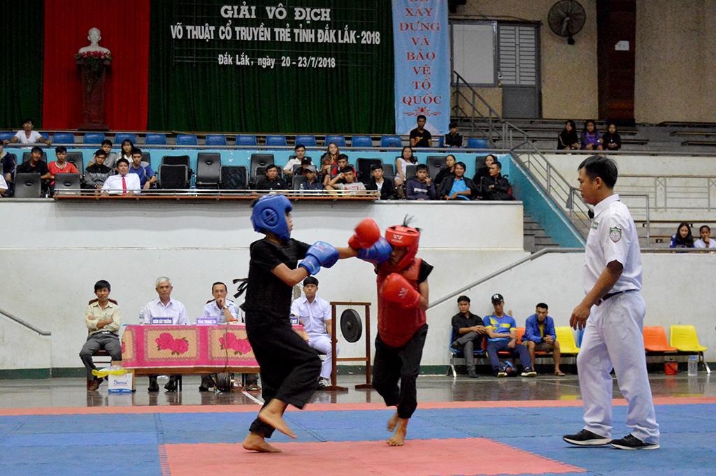 151 vận động viên tham gia Giải vô địch Võ thuật Cổ truyền trẻ tỉnh Đắk Lắk năm 2018