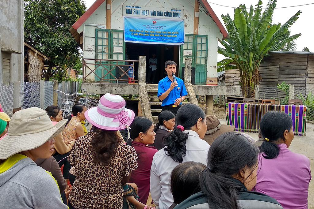 Chương trình tình nguyện vì cuộc sống cộng đồng tại xã Ea Trul
